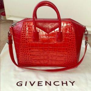 Givenchy Medium Croc Embossed Antigona